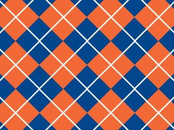 Florida Gators Inspired Blue and Orange Digital Backgrounds