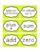 Go Math! Florida Common Core First grade vocabulary cards