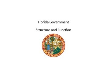 Florida Government Powerpoint and Activities