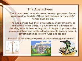 Florida History Gr 4 1st Settlers Northern Florida Indian Timucuas Apalachees FL