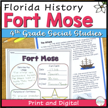 Florida History: Fort Mose text and fact cards