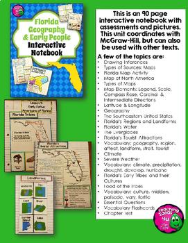 Map Of North America For 4th Grade.Florida History Interactive Notebook Social Studies Bundle 4th Grade