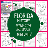 Florida History State Study Interactive Notebook Unit + AUDIO