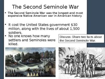 Florida History Gr4 Second Seminole War Native American Social Studies FL Indian
