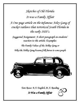 Florida History- The Asley Gang