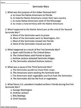 Florida History: The Seminole Wars