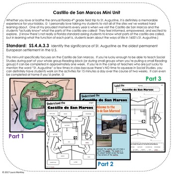 Florida History Unit: St. Augustine Castillo de San Marcos