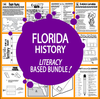 Florida History Bundle – 8 Engaging Literacy-Based Florida State Study Lessons
