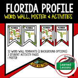 Florida History Word Wall, State Profile, Activity Pages