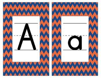 Florida Inspired Blue and Orange Alphabet & Number Cards f