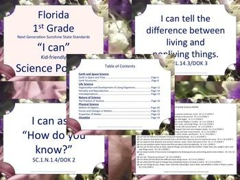 Florida K-5 Bundle Science Next Generation Sunshine State Standards NGSSS