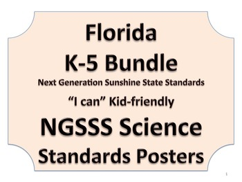 Florida K-5 Bundle Science Standards NGSSS NO BORDER