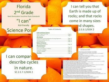 Florida K-5 Bundle Science Standards NGSSS Orange Border