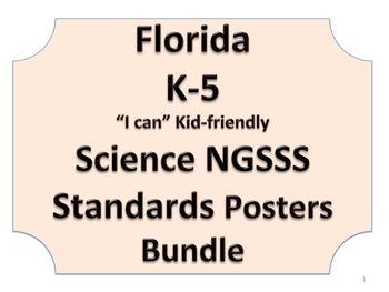 Florida K-5th Grade Bundle SS Social Studies NGSSS Standards Posters