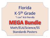 Florida K-5th Grade Math ELA Science AND SS Standards NO B