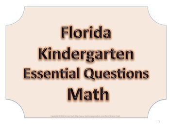 Florida K Kindergarten Math ESSENTIAL QUESTIONS No Border