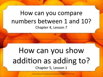 Florida K Kindergarten Math ESSENTIAL QUESTIONS Oranges