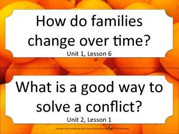 Florida K Kindergarten SS Social Studies ESSENTIAL QUESTIONS Oranges