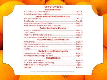 Florida Kindergarten LAFS ELA Language Arts Standards Posters