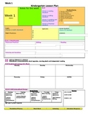 Florida Kindergarten Lesson Plan Template