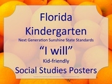 Florida Kindergarten SS Social Studies NGSSS I WILL Standards Posters