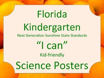 Florida Kindergarten Science Standards NGSSS Orange
