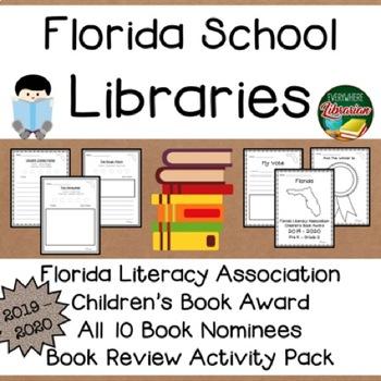 Florida Literacy Association Children's Book Award 2019 - 2020  Book Review Pack