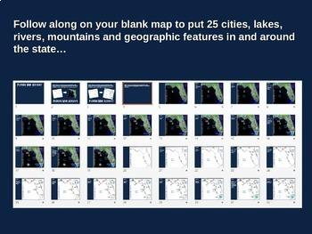 Florida Map Activity- fun, engaging, follow-along geography PPT