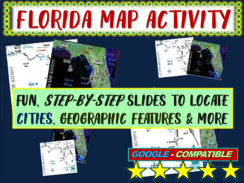 Florida Map Activity- fun, engaging, follow-along geography PPT