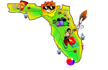 Free! Florida Map ClipArt by PrepToon