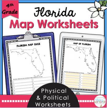 Florida Geography Map.Florida Map Worksheets