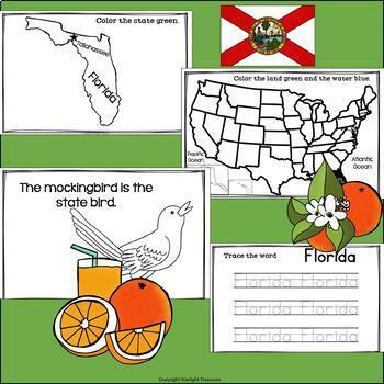 Florida Mini Book for Early Readers - A State Study