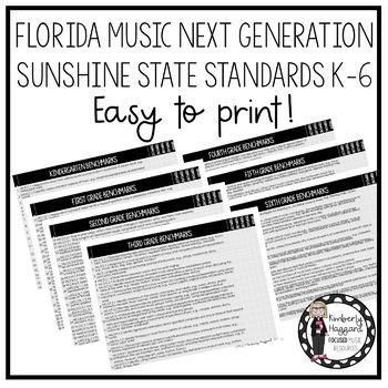 Florida Music Next Generation Sunshine State Standards: K-6