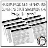 Florida Music Next Generation Sunshine State Standards: K-6