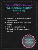 Florida Music Standards Checklist K-2