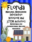 Florida Natural Resources Interactive Notebook and STEM Activities