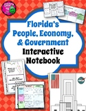 Florida People, Economy, & Government Interactive Notebook 4th Grade Unit 5