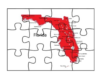 Florida Puzzle Map Fun