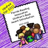 Florida Reading Association Children's Book Award Introduction