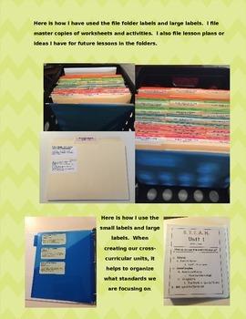 LAFS & MAFS - Florida SECOND GRADE Standards - Printable Labels