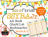Florida SSYRA Jr. K-2 Accelerated Reader Checklist Bookmarks {2019-20}