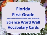 Florida Science Word Wall 1st First Grade Vocabulary NGSSS Aligned Floral