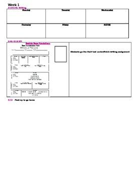 Florida Second Grade Lesson Plan Template