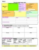 Florida Second Grade Lesson Plan Template