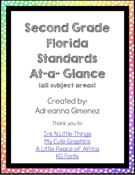 Florida Second Grade Standards at-a-glance