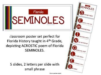 Florida Seminole Indians  Acrostic Poem Poster