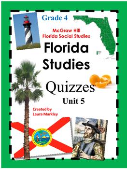 Florida Social Studies Common Assessments - Unit 5 Grade 4
