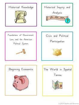 Florida Social Studies - NGSSS Kindergarten Standards Posters & Statement Cards