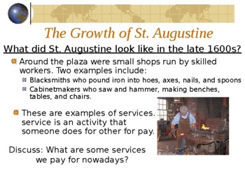 Florida St Augustine Gr 4 History Early Settler Social Studies PowerPoint Pics