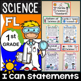 1st Grade Florida Science Standards - I Can Statements - Full Page Size